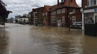 Wimbledon roads turned into rivers due to huge flood