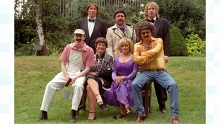 The Fast Show cast including Thomson (middle of top row) and Aherne (seated second right)