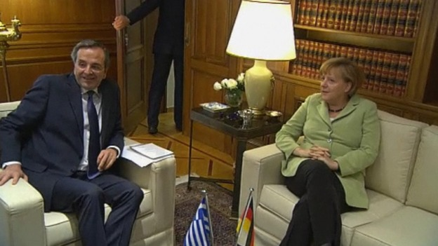 Merkel and Samaras meeting earlier