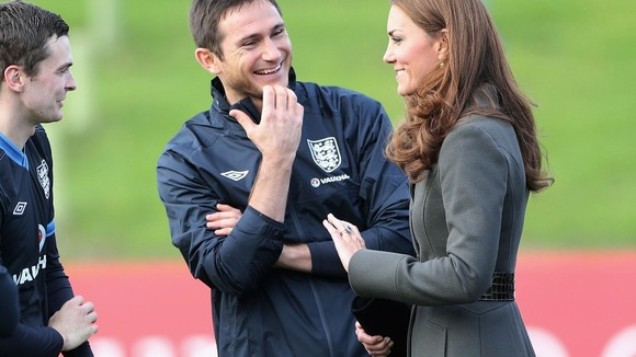 Kate talks to Frank Lampard and Adam Johnson