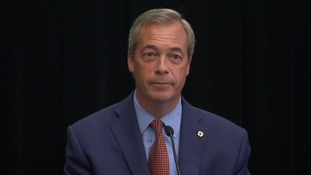 Nigel Farage addressed the media on Monday morning.