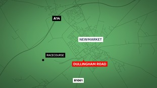 Police in Suffolk and Cambridgeshire are hunting a hit-and-run motorist who crashed into two parked cars and left the drivers with serious injuries.