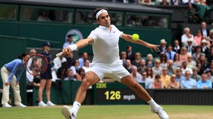 Roger Federer was never in any trouble.