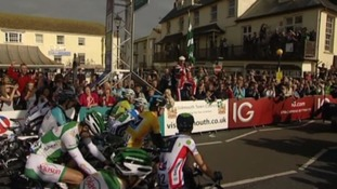 Tour of Britain 2013 in Sidmouth