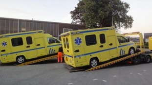 Fake ambulances were used to ship illegal drugs into the UK.