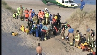 Man rescued at Druridge Bay