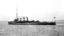 The HMS Amphion sank on 6 August 1914 off Essex.