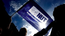 A demonstration in support of the National Union of Teachers (NUT), as teachers in England are to stage a one-day strike over pay and conditions.
