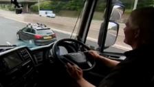 Driver Gary Hutchinson on the A1