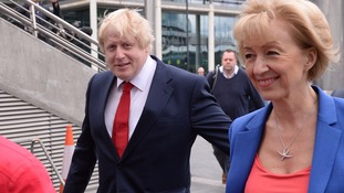 Boris Johnson pictured with Andrea Leadsom