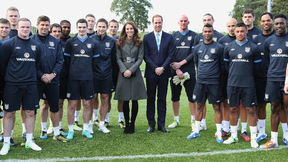 Prince William and Kate Middleton Ashley Cole FA St George's Park