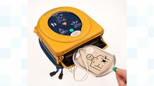 A defibrillator stolen in west Belfast has been returned.