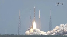 The probe takes off from Earth five years ago.