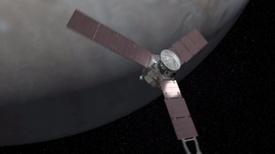 The probe's three wings make Juno the most distant solar-powered spacecraft.