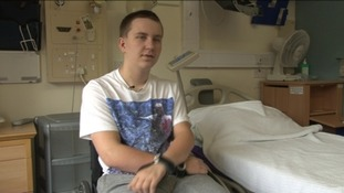 17 year old George Claxton has returned home to Blackburn after being paralysed playing rugby