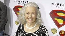 Noel Neill in 2006 at the Superman Returns DVD and video game launch party.