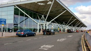 The main terminal at Stansted