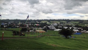 Emergency crews were called to the Glastonbury Festival site
