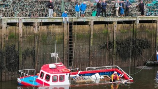 Fishing vessel sinks at Whitby harbour