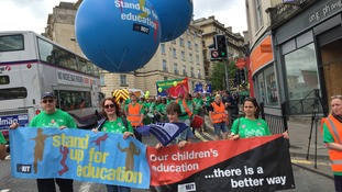 Striking teachers take part in mass march in Bristol