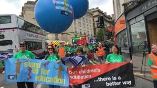 Striking teachers take part in mass march in Bristol