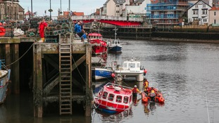 Fishing boat sinks in Whitby harbour