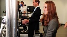 Kate and William playing reaction game