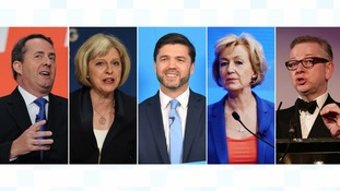 The runners - Liam Fox, Theresa May, Stephen Crabb, Andrea Leadsom and Michael Gove