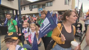 North East teachers strike as part of national row