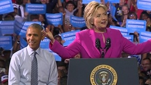 President Obama endorses Hillary Clinton in first campaign joint appearance