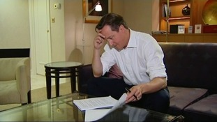 David Cameron is seen fine-tuning his speech