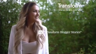 Fashion blogger Sarah Ashcroft discusses what she dislikes about her body in the advert.