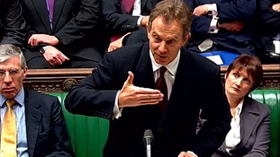 Tony Blair addresses the House of Commons about possible war with Iraq in 2003.