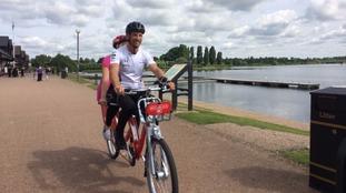 Jenson Button in Milton Keynes