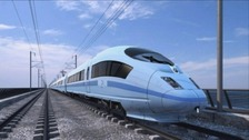 Artists impression on how trains could look on the High Speed Rail route