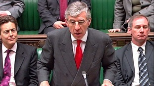 Former foreign secretary Jack Straw in the House of Commons.