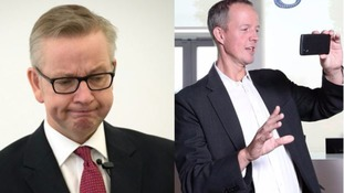 Michael Gove and his campaign manager Nick Boles