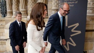 The Duchess of Cambridge pictured as she enters the Natural History Museum.