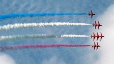 RAF cadets are to join the Lincolnshire based Red Arrows on a 150-mile flight today