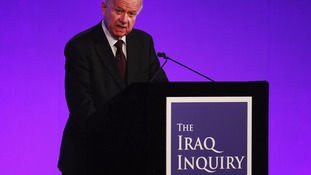 Sir John Chilcot delivers the findings of the report.
