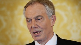 Tony Blair speaks after the report's publication.