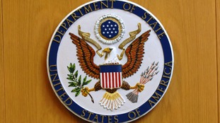The emblem of the US Department of State.