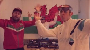 The band celebrate Wales' success through the art of rap.