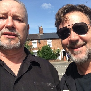 David Evans with Russell Crowe
