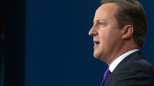 David Cameron's address comes on the final day of the Tory Conference