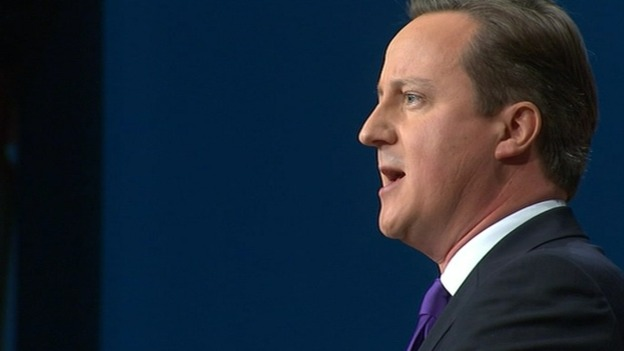 David Cameron&#x27;s address comes on the final day of the Tory Conference