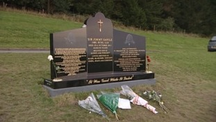Savile's original headstone before it was demolished.