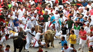 'Running of the bulls' event starts in Pamlona