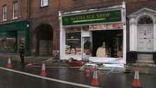 The aftermath of the fire at the eastern European food shop in Norwich