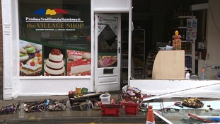 Police were alerted to the incident at the Village Shop in Magdalen Street at around 3am